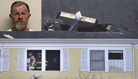 مردی که در اقدامی جنون آمیز هواپیما را به خانهاش کوباند!