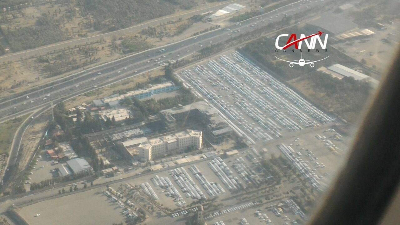 (عکس) پارکینگ ایران خودرو از پنجره هواپیما