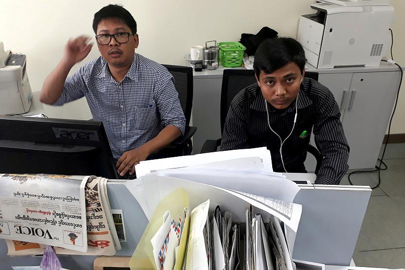 آنگ سان سوچی: زندانی شدن دو خبرنگار به آزادی بیان ربطی ندارد