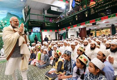 (تصاویر) نخست وزیر هند در مراسم عزاداری امام حسین (ع)