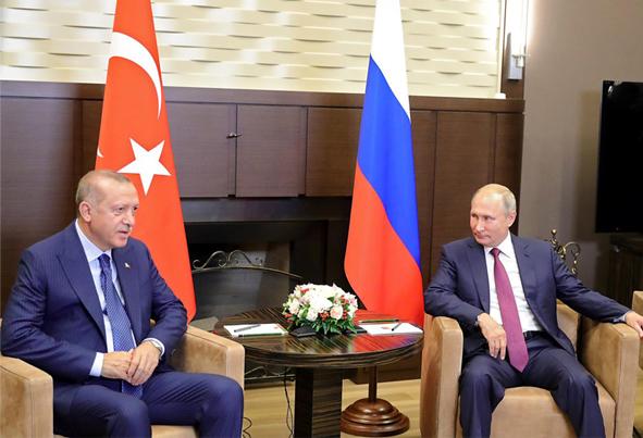 (تصاویر) توافق اردوغان و پوتین بر سر ادلب