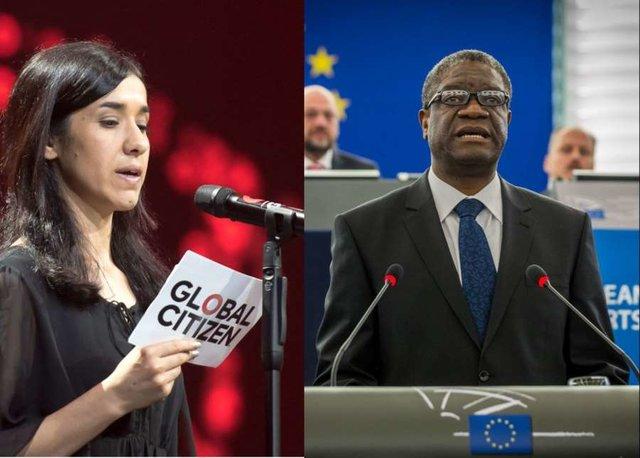 نادیا مراد و دنیس موکویگی برندگان امسال نوبل صلح شدند