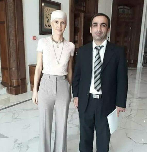 همسر بشار اسد پس از شیمی درمانی/عکس
