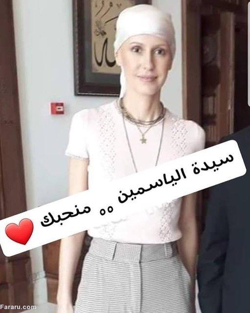 چهره جدید همسر بشار اسد