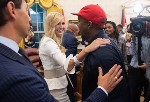 (تصاویر) علت دیدار همسر کیم کارداشیان با ترامپ چه بود؟