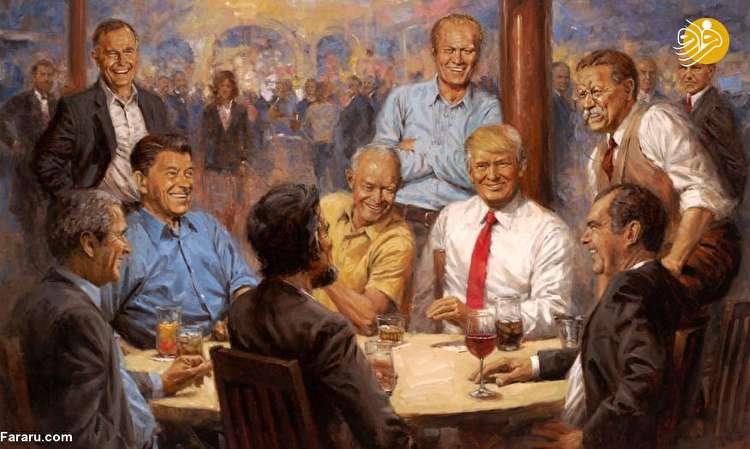 غافلگیری ویژه ترامپ برای نقاش آمریکایی