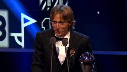 مودریچ مرد سال فوتبال جهان شد