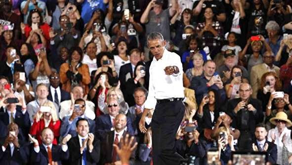 (تصاویر) گردهمایی انتخاباتی اوباما در لاس وگاس