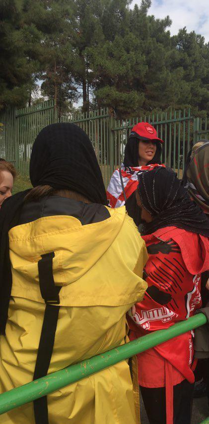 (تصاویر) دختران برانکو و پروین در ورزشگاه آزادی