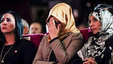 (تصاویر) اشکهای نامزد جمال خاشقچی در استانبول