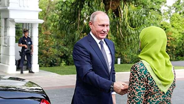 (تصاویر) استقبال گرم خانم رئیس جمهور از پوتین