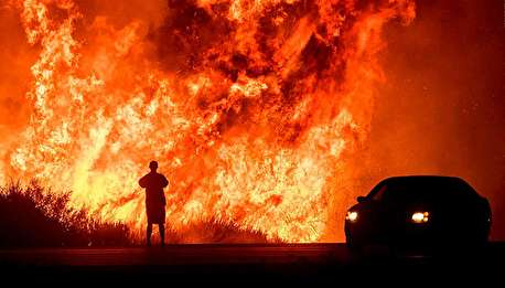 تصاویری هولناک از آتشسوزی کالیفرنیا