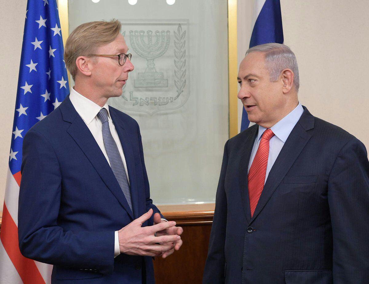 دیدار برایان هوک با نتانیاهو درباره تحریم ایران