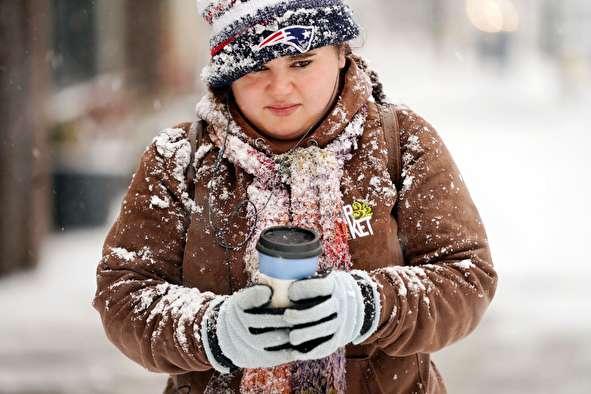 (تصاویر) بارش برف بی سابقه در آمریکا