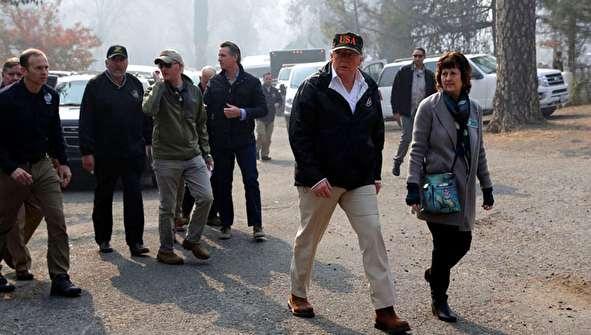 (تصاویر) ترامپ در شهر سوخته!