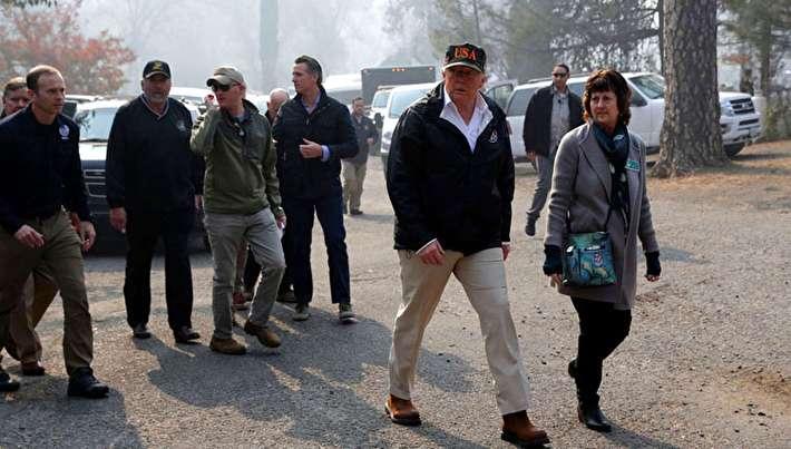 ترامپ در شهر سوخته!