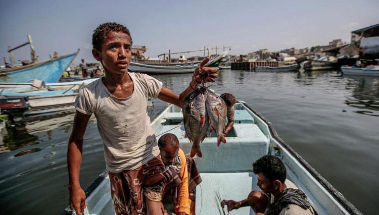 (تصاویر) شرایط بحرانی ماهیگیران در یمن