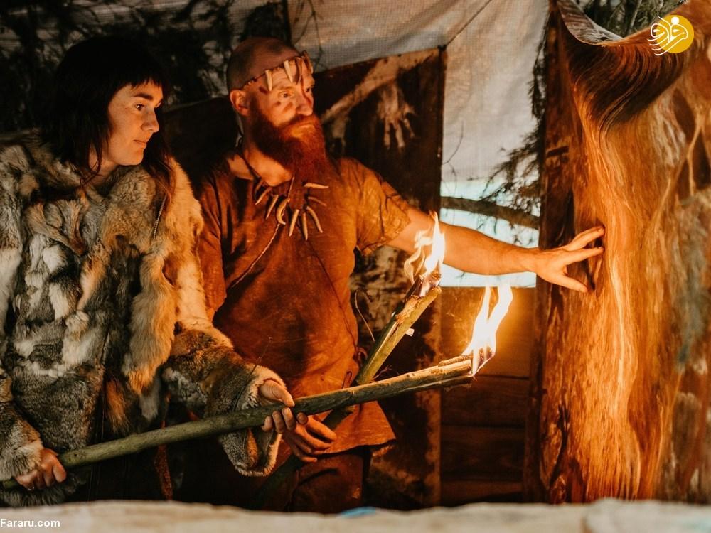 (تصاویر) زوجی که در عصر حجر زندگی میکنند