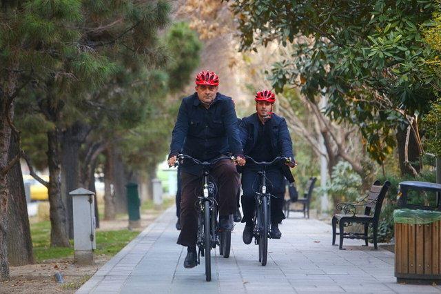 (تصاویر) دوچرخهسواری حناچی