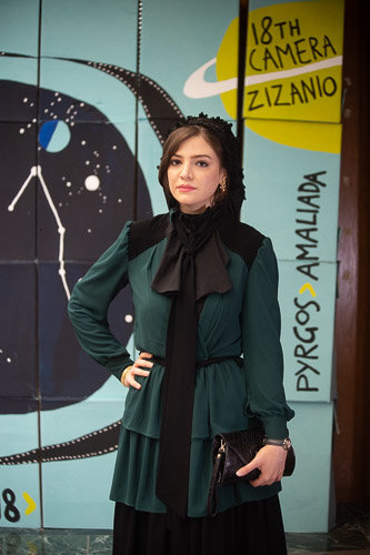 (تصاویر) بازیگر زن ایرانی روی فرش قرمز جشنواره یونانی