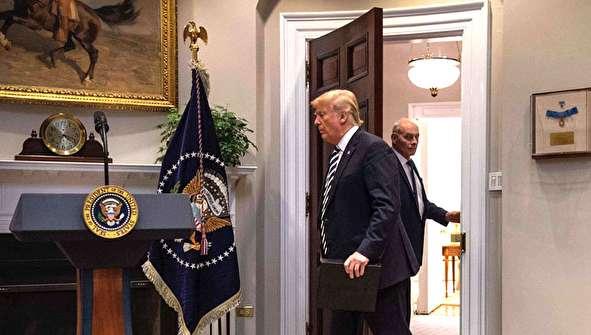 (تصاویر) چرا ترامپ رئیس دفتر خود را برکنار کرد؟