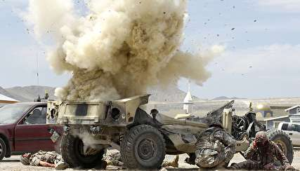 انفجار وحشتناک مین کنار جادهای