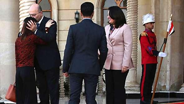 (تصاویر) دیدار نادیا مراد با رئیس جمهور عراق