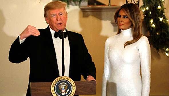 (تصاویر) پوشش متفاوت ترامپ و ملانیا در کاخ سفید
