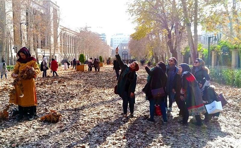 تصاویری پاییزی از میدان مشق