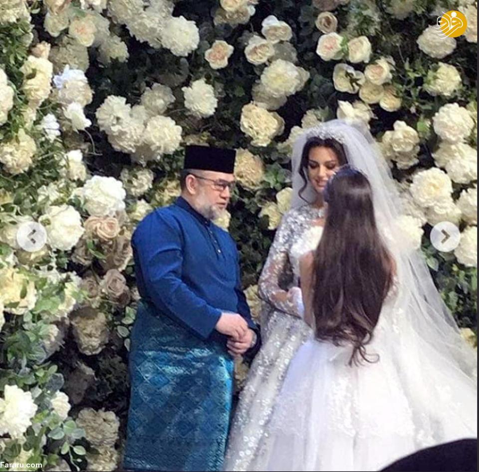 (تصاویر) ملکه زیبایی روسی مسلمان شد و با پادشاه مالزی ازدواج کرد