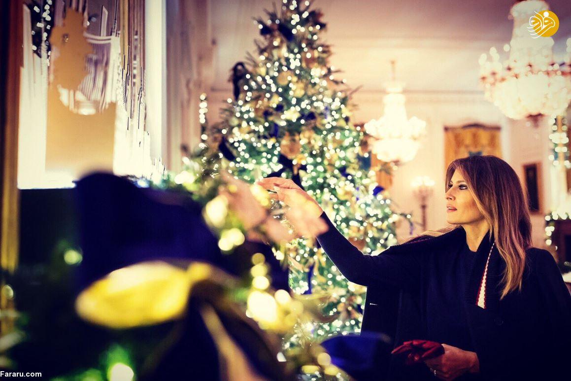 تمسخر بیرحمانه سلیقه ملانیا ترامپ در تدارک تزئینات کاخ سفید