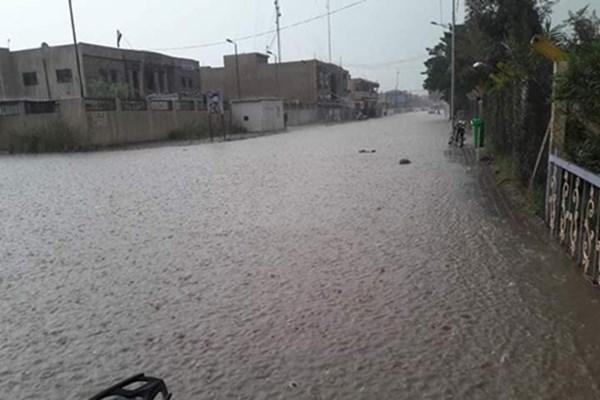 (تصاویر) سیل شهر «بلد» در عراق را فرا گرفت