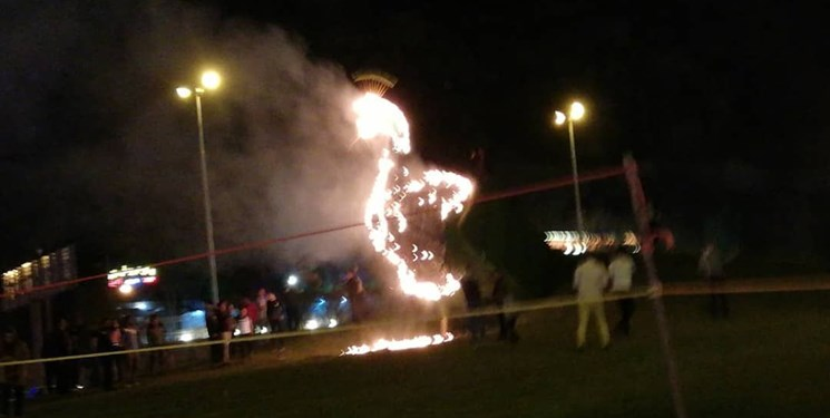 ماجرای آتش زدن طاووس دروازه قرآن شیراز