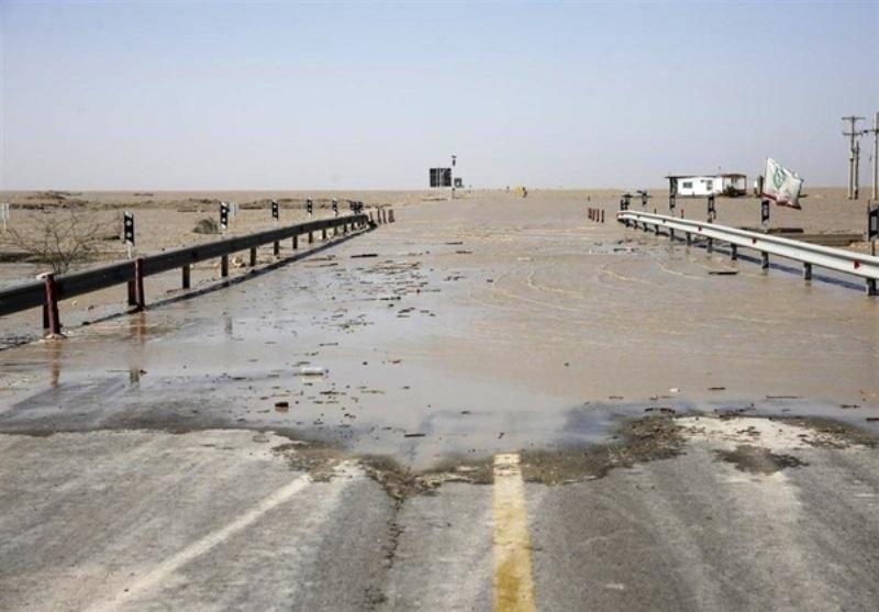 سیل جاده اهواز - آبادان را بست
