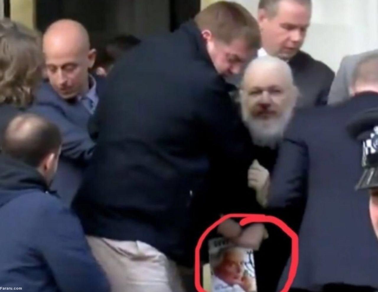 جولیان آسانژ در لحظه دستگیری چه کتابی میخواند؟