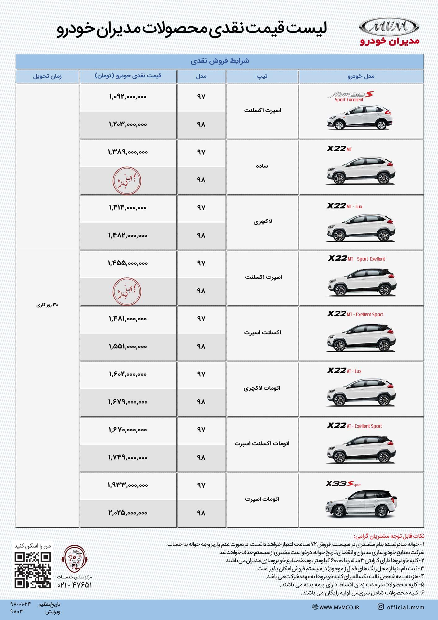 فروش فوری محصولات مدیران خودرو بهار ۹۸؛ اقساط ۴۸ ماه