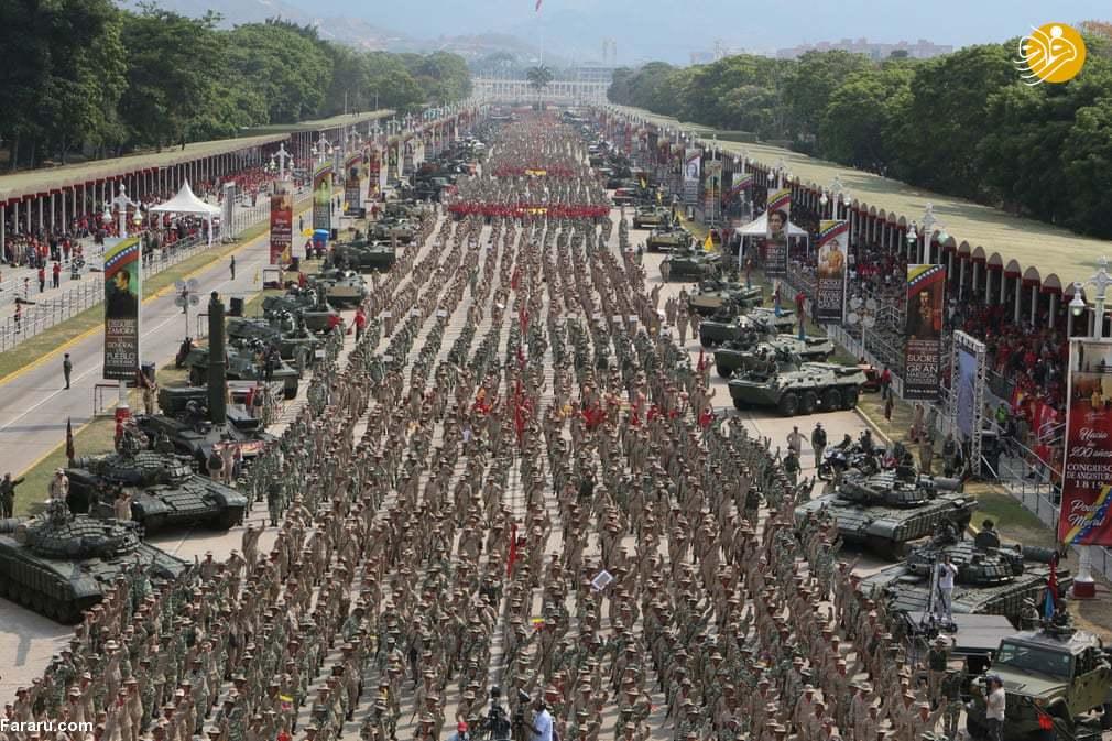 (تصاویر) قدرت نمایی شبه نظامیان ونزوئلا
