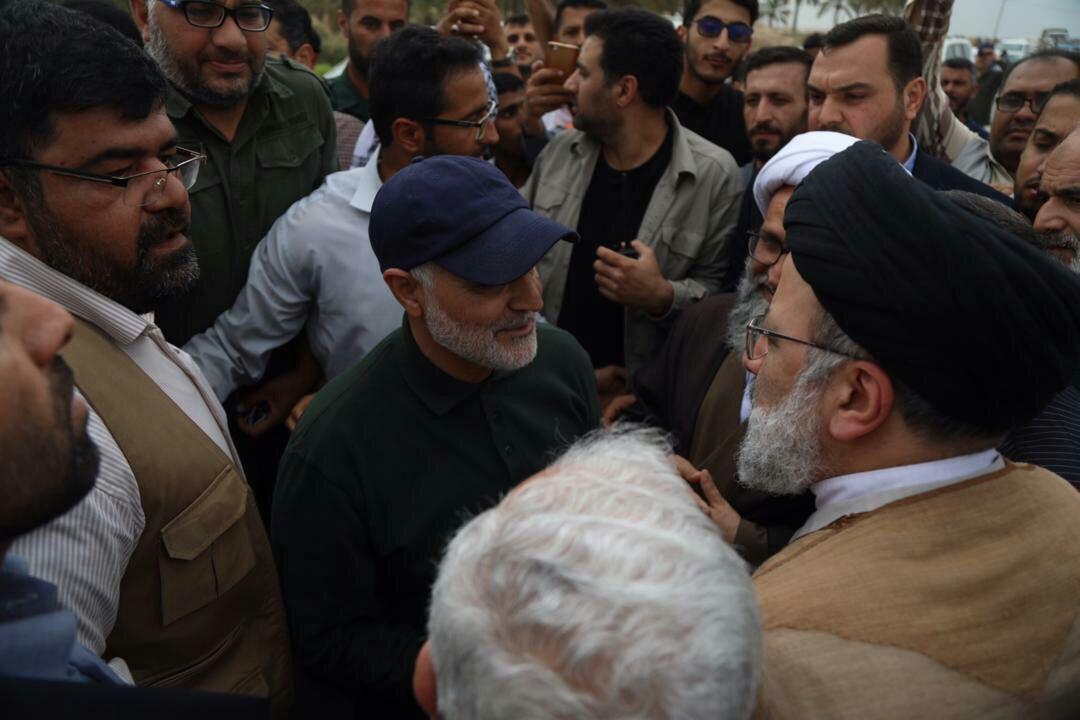 (تصویر) سردار سلیمانی و ابومهدی مهندس در شادگان
