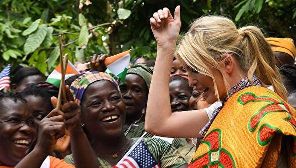 (تصاویر) ایوانکا ترامپ در ساحل عاج