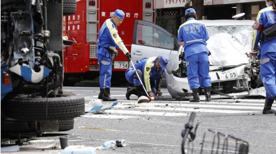 (تصور) حمله با خودرو به عابران با ۱۰ کشته و زخمی در ژاپن
