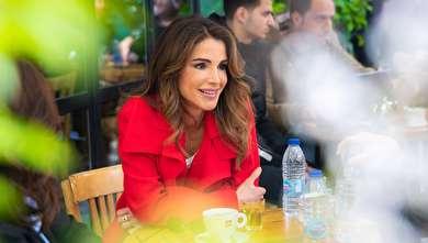 (تصاویر) ملکه رانیا در محله قدیمی اردن