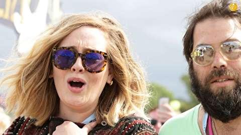 (تصاویر) ادل از همسرش جدا شد