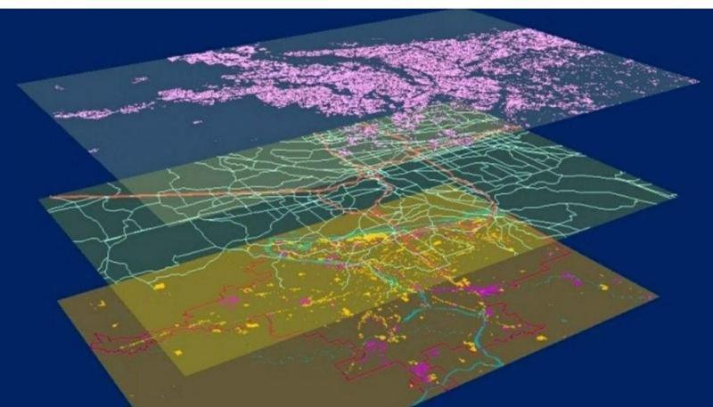 تشخیص مسیر سیلاب با استفاده از GIS