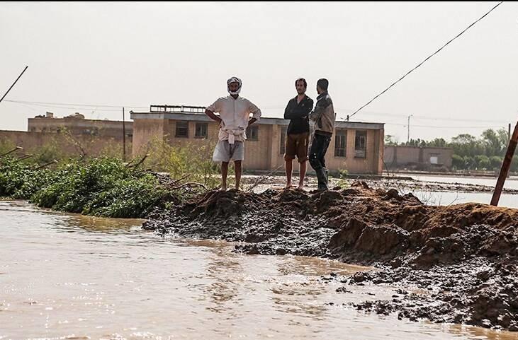 شهر «رُفیع» در خوزستان دوباره به محاصره سیلاب درآمد