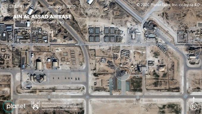 تصاویر ماهوارهای از پایگاه عینالاسد پس از حمله سپاه