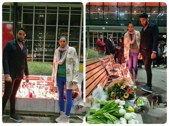 (عکس) کیمیا علیزاده در مراسم سوگواری کشتهشدگان