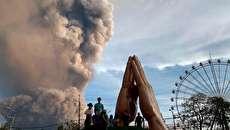 (تصاویر) فوران شدید آتشفشان تال