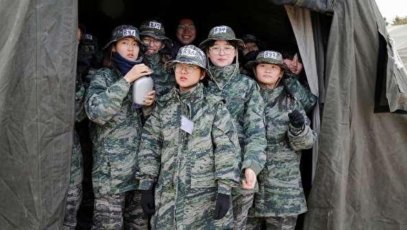 (تصاویر) چالش دانش آموزان کره با تفنگداران دریایی