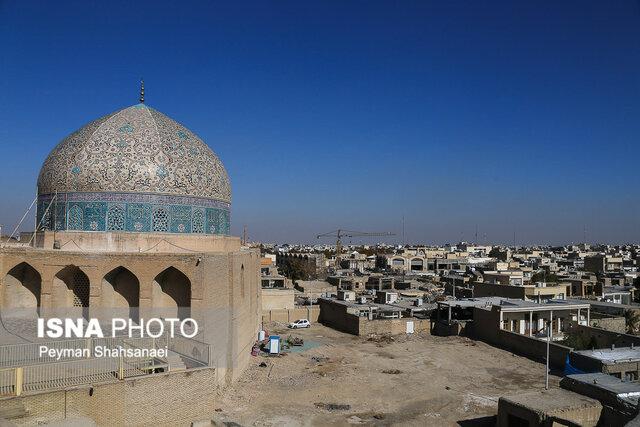 (تصاویر) مورد عجیب برف و گنبد شیخ لطفالله