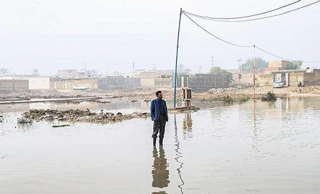 تصاویر هوایی از مناطق سیلابی قشم